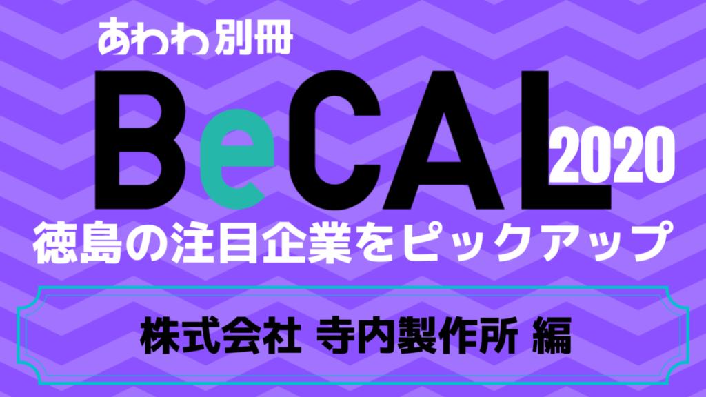 徳島で働く注目企業をピックアップ!【BeCAL_034】株式会社 寺内製作所