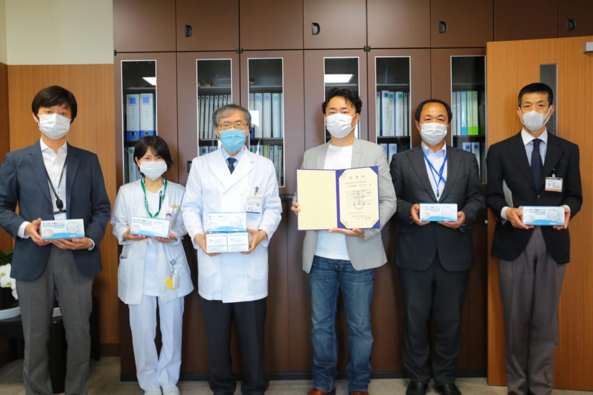 安心して生活できる未来のために!徳島大学病院・徳島赤十字病院にマスク10万枚の寄付が行われました。