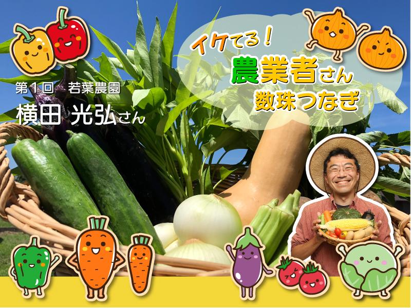 『イケてる! 農業者さん数珠つなぎ』第1回 若葉農園 横田光弘さん