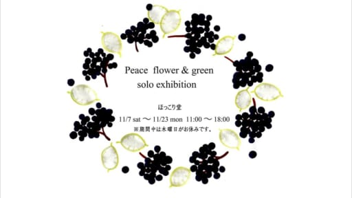 Peace  flower & green    solo exhibition