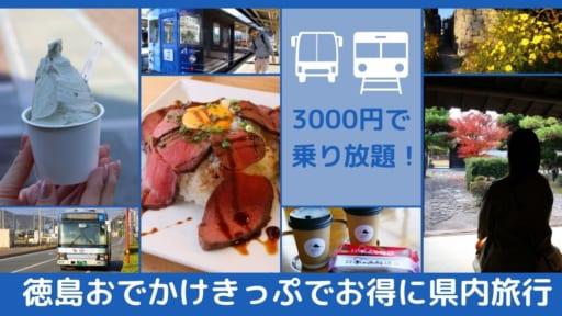 《観光・プレゼントあり》3000円で1日乗り放題『徳島おでかけきっぷ』でお得に県内旅行