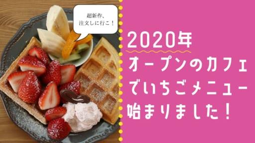 2020年オープンの新店カフェでいちごメニュー始まりました!超新作初お目見え♡