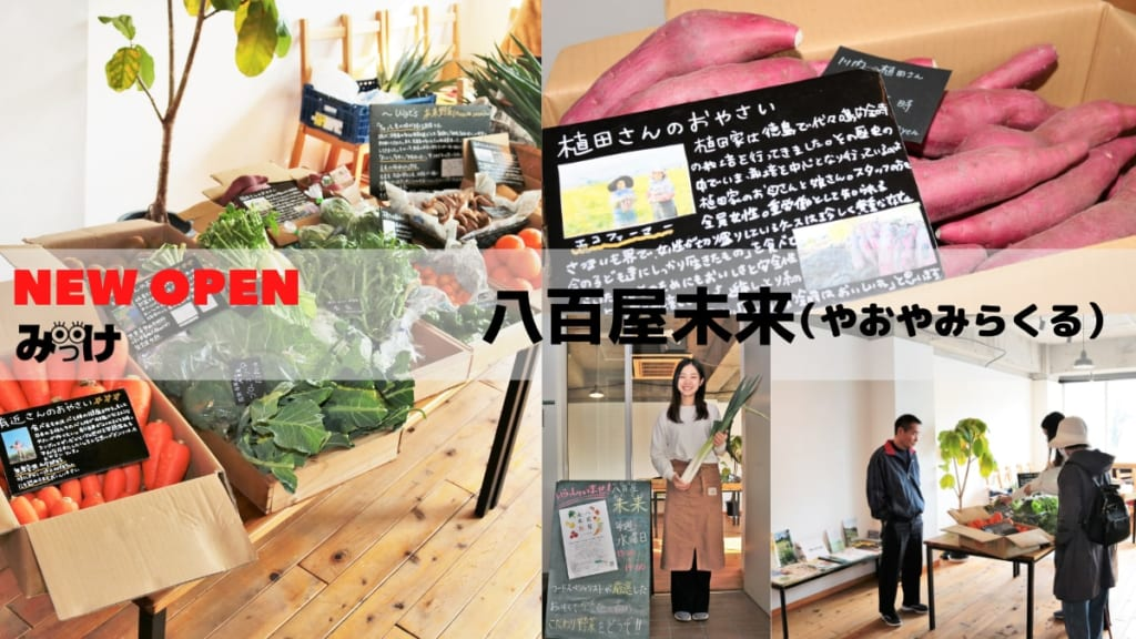 【11月OPEN】八百屋未来(やおやみらくる/徳島市蔵本町)野菜を売ってるけど、ただの八百屋じゃない!
