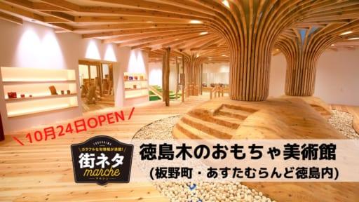 【10月24日OPEN】徳島木のおもちゃ美術館(板野町・あすたむらんど徳島内)